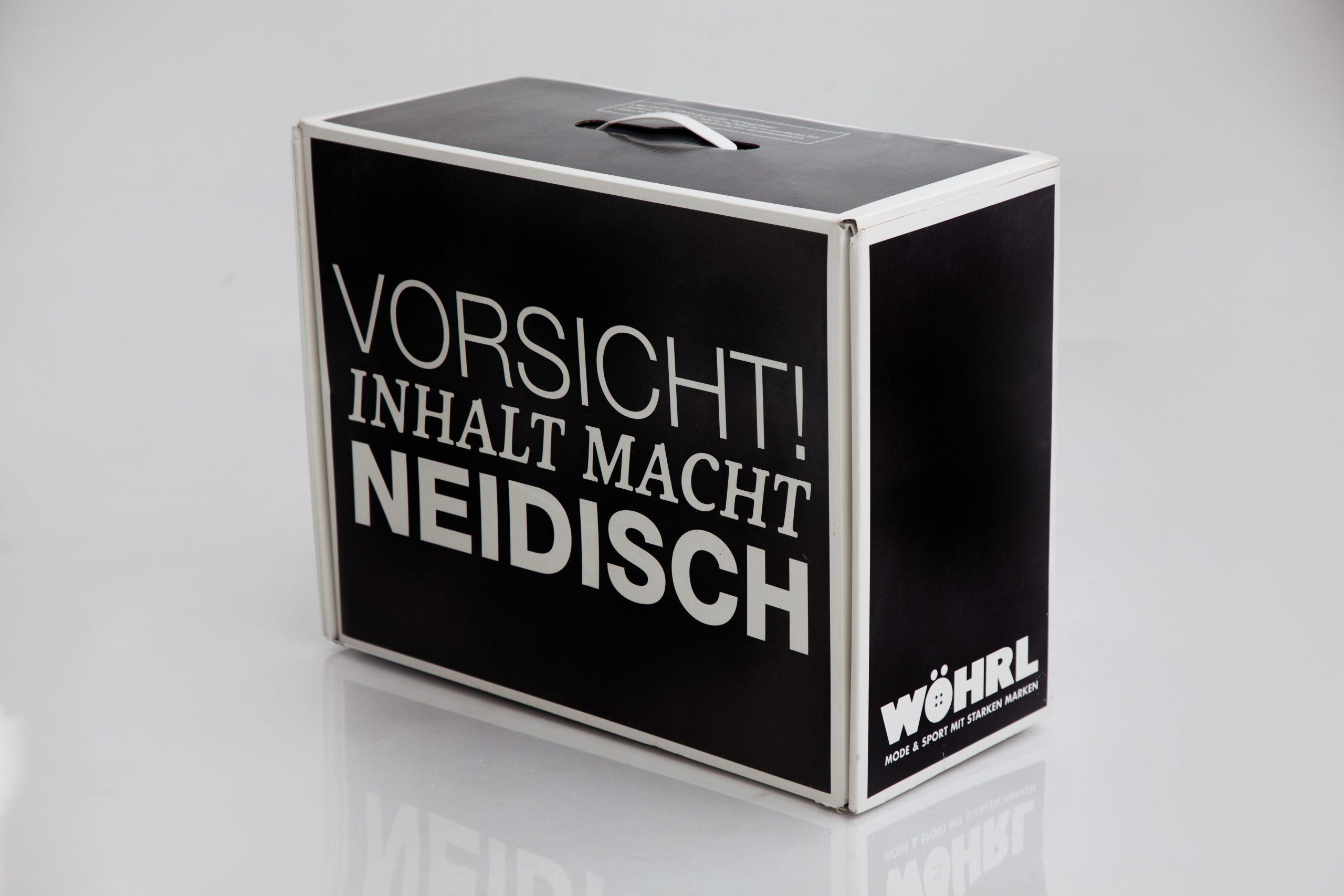 Karton Box Schwarz mit Henkel
