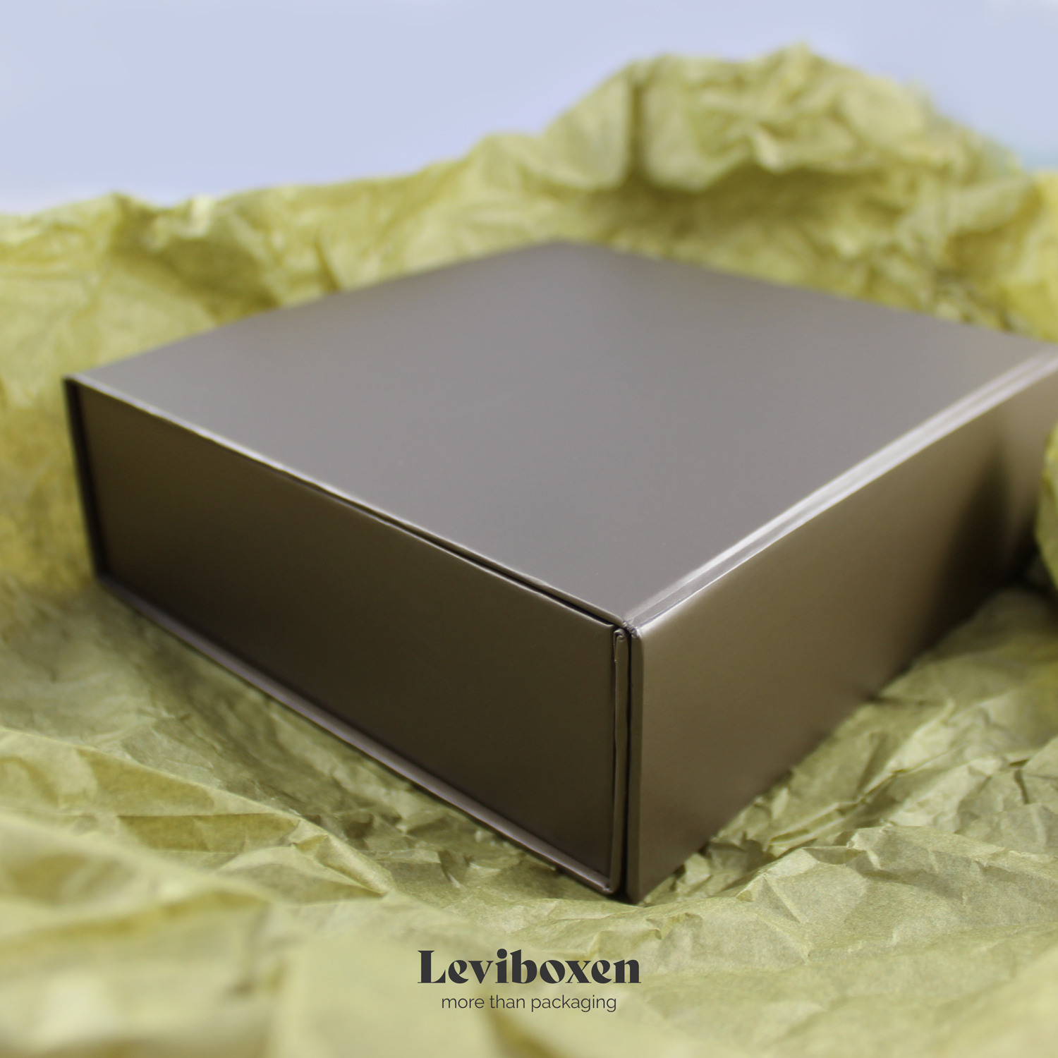 Magnetbox in grau taupe